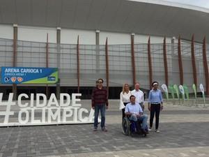 Paes, Hortência, Janeth e Nuzman (Foto: Káthia Mello/G1)