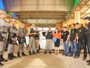 Polícias Civil, Militar, Sesp e Força Nacional participam em conjunto da Operação (Foto: Diego Gurgel/Secom)