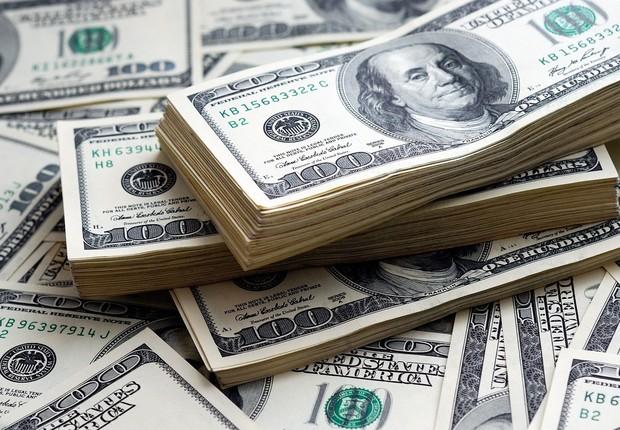 Dólar ; dólares ; câmbio ; moeda norte-americana ; PIB dos EUA ;  (Foto: Thinkstock)