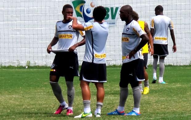 Seedorf botafogo treino (Foto: Thales Soares)