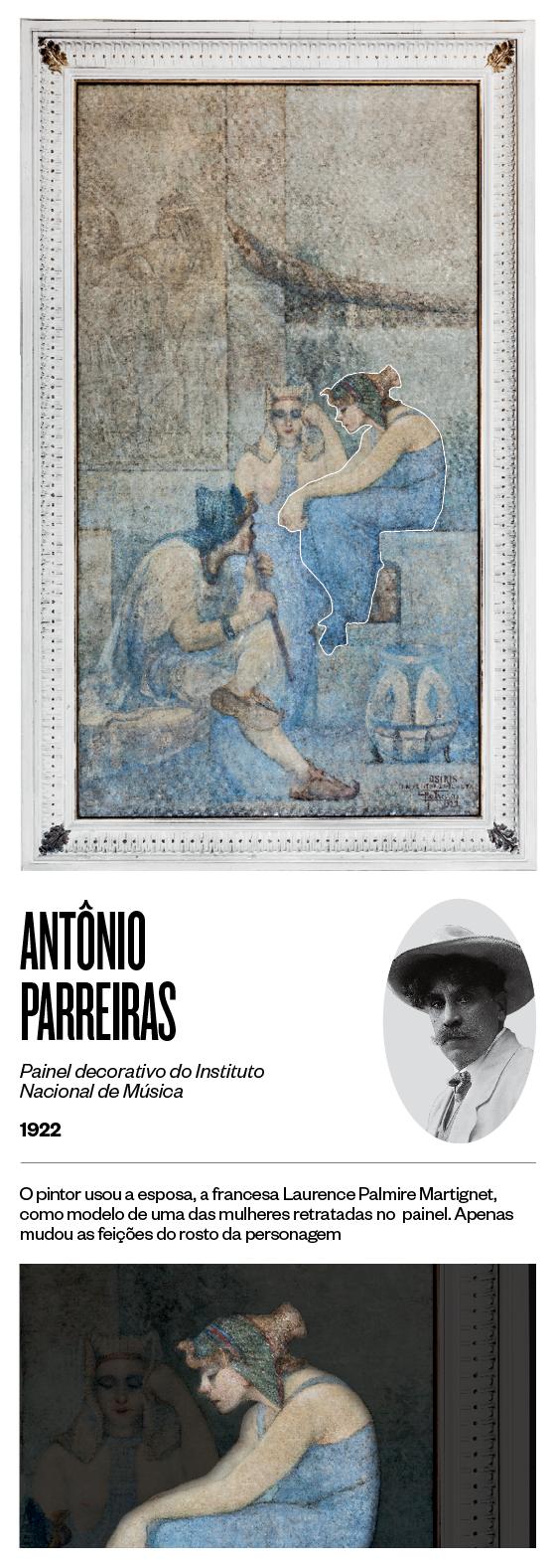 """""""Painel decorativo do Instituto Nacional de Música"""" - 1922 - Antônio Parreiras (Foto: Stefano Martini/ÉPOCA e reprodução)"""