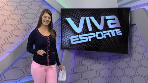 Tâmara Oliveira apresenta o Viva Esporte deste sábado, 06. (Foto: Divulgação / TV Sergipe)