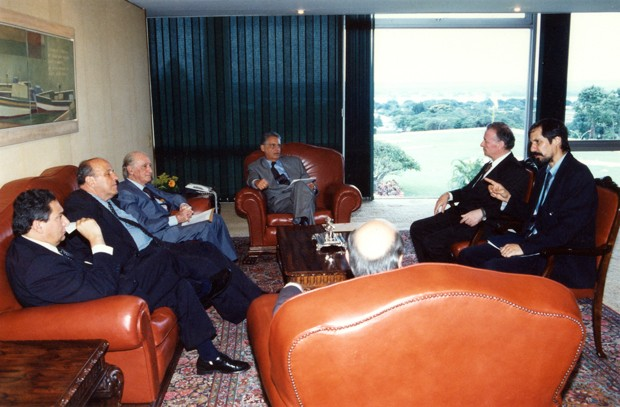 Eduardo Jorge em reunião no Palácio do Planalto, em Brasília (Foto: Divulgação)