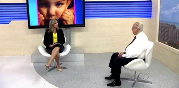 Thaíse Cavalcante conversa com Dr. Milton Hênio sobre saúde infantil  (Foto: Reprodução/TV Gazeta)