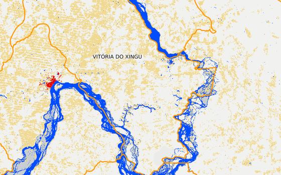 Vitória do Xingu em 2015 (Foto: MapBiomas)