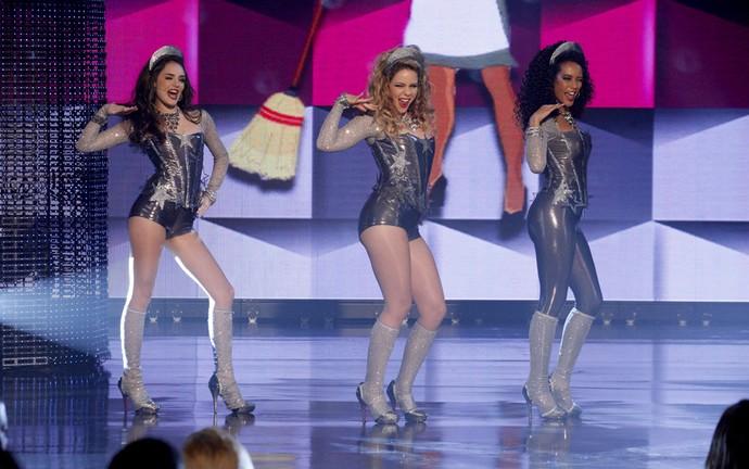 Empreguetes no palco (Foto: TV Globo)