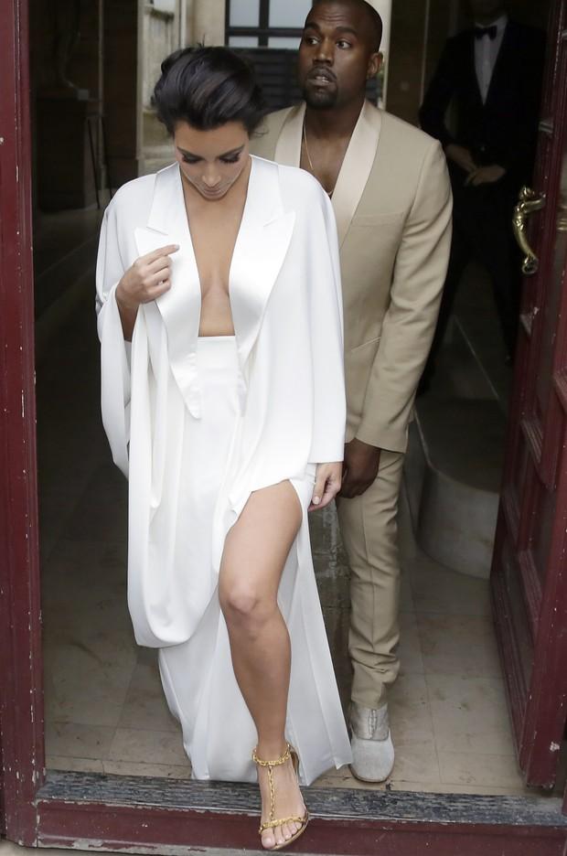 Kim Kardashian e Kanye West (Foto: AFP / Agência)