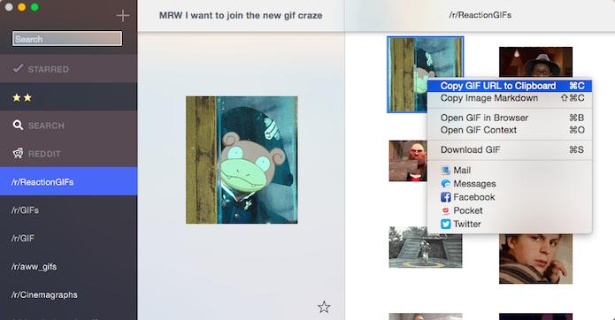 Copiando o link de um GIF (Foto: Reprodução/Helito Bijora)