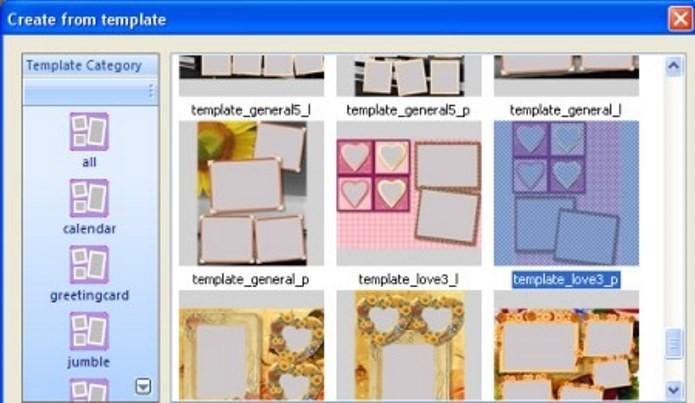Picture Collage Maker oferece uma vasta coleção de molduras para imagens (Foto: Divulgação)
