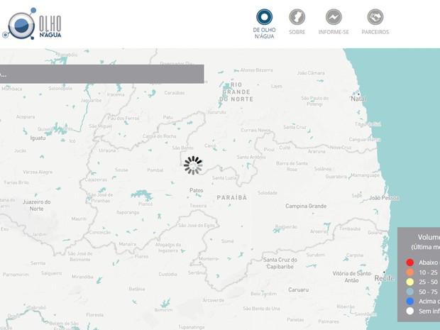 Ferramenta Olho N'água monitora reservatórios do Semiárido brasileiro (Foto: Reprodução/Olho N'água)