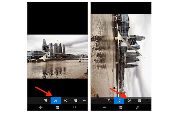 Finalizando a edição de uma imagem no aplicativo fotos do Windows 10 Mobile (Foto: Reprodução/Marvin Costa)