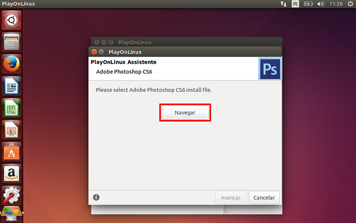 Acesse o gerenciador de arquivos para importar o instalador (Foto: Reprodução/Paulo Alves)