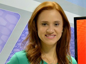 Karina Quadros é apresentadora do Globo Esporte (Foto: Angelina Ayres Medeiros/Rede Amazônica)