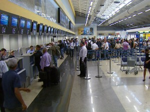 Terminal do Aeroporto de Viracopos em Campinas (Foto: Reprodução / EPTV)