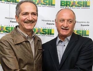 Luiz Felipe Scolari e Aldo Rebelo, Copa do Mundo (Foto: Glauber Queiroz/ Portal da Copa)
