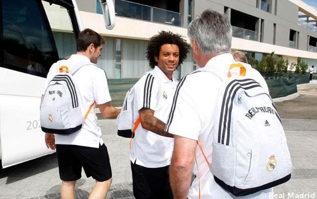 Marcelo viagem Real Madrid (Foto: Divulgação / Site Oficial do Real Madrid)
