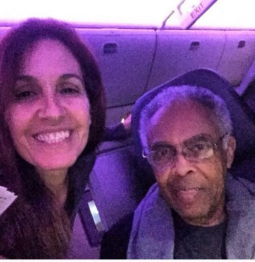 Flora e Gilberto Gil em Champaign (Foto: Reprodução Instagram)