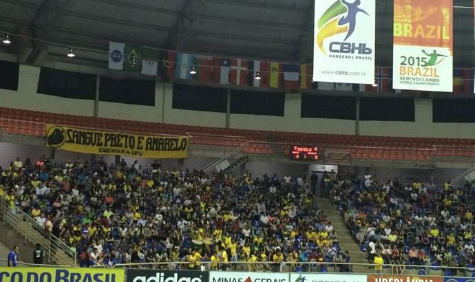 Brasil Uruguai Handebol Mundial (Foto: Hismênia Keller)