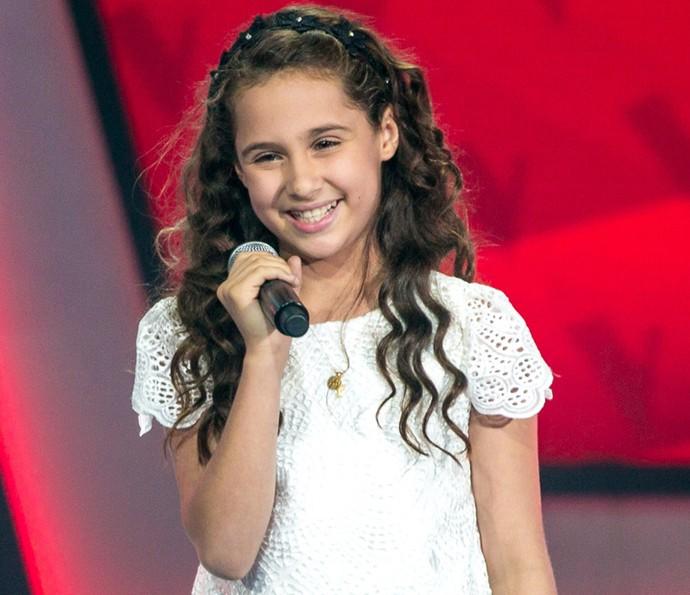 Ana Beatriz se apresenta na primeira tarde de Audições do The Voice Kids (Foto: Isabella Pinheiro/Gshow)