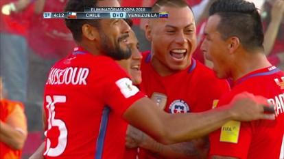 Os gols de Chile 3 x 1 Venezuela pelas Eliminatórias sul-americanas para a Copa do Mundo
