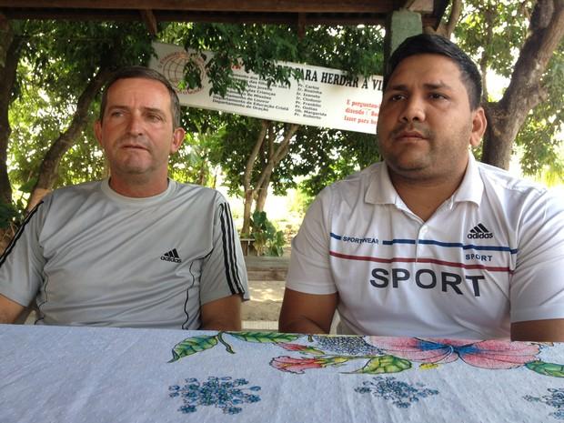 O Sargento Auler (à esquerda) e o enfermeiro Tomi participaram da equipe buscou o avião desaparecido por terra (Foto: Inaê Brandão/ G1 RR)