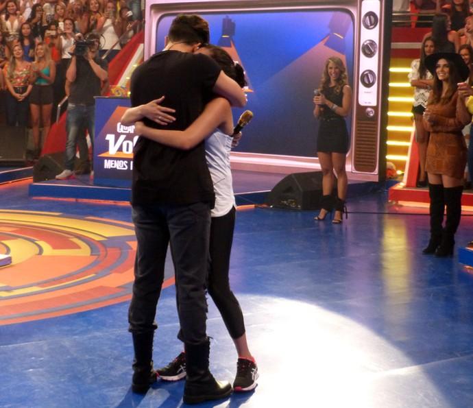 Janaina não esperava a surpresa de Luan Santana (Foto: Gabriela Bispo/Gshow)