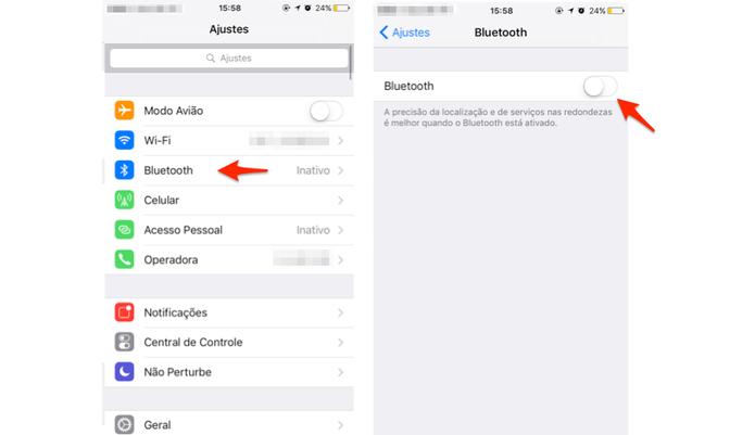 Desative o Bluetooth quando não estiver usando (Foto: Gabriella Fiszman/ TechTudo)