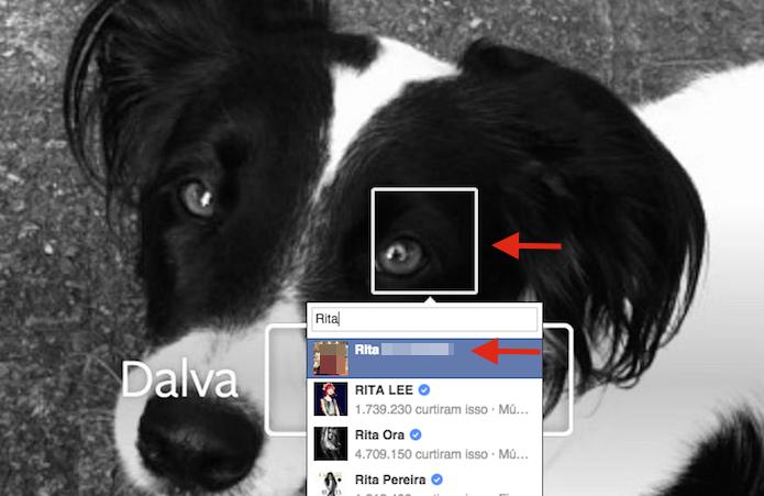 Marcando amigos em uma foto do Facebook (Foto: Reprodução/Marvin Costa)