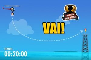 Brinque com o game do helicóptero do 'Domingão' (Domingão do Faustão / TV Globo)
