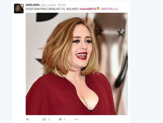 Reações ao look de Adele no BRIT Awards (Foto: Reprodução)