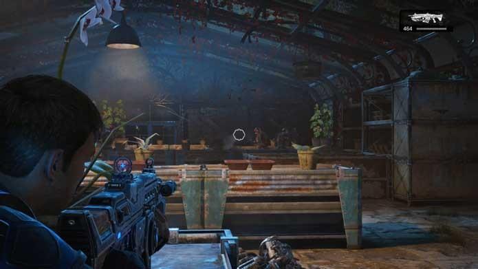 Fique longe dos inimigos em Gears of War 4 (Foto: Reprodução/Murilo Molina)