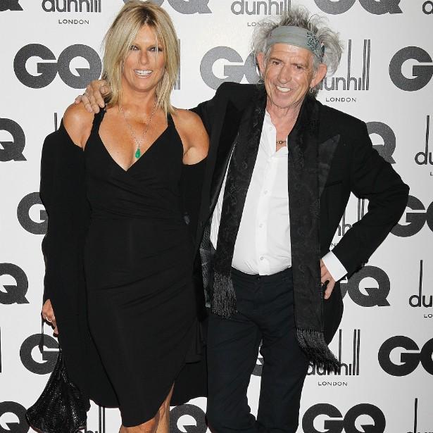 A modelo e atriz norte-americana Patti Hansen começou a namorar em 1979 com o britânico Keith Richards, dos Rolling Stones, e se casou com ele em 1983. Têm duas filhas. (Foto: Getty Images)