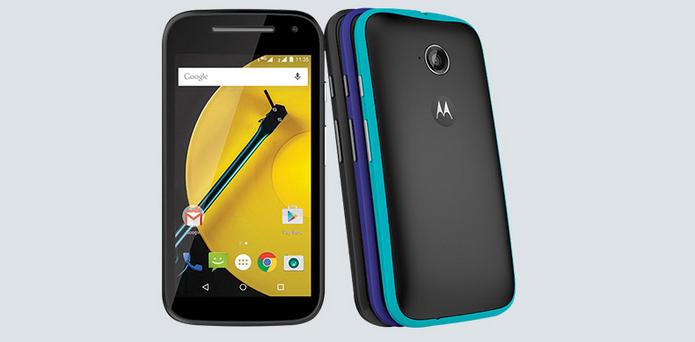 Moto E tem visual bem compacto (Foto: Divulgação/Motorola)
