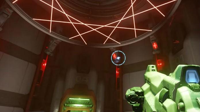 Doom: evite os lasers que protegem a BFG (Foto: Reprodução/Thomas Schulze)