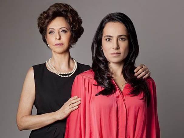 Stella Freitas e Cássia Linhares estão no papel de mãe e filha conflituosas (Foto: Divulgação)