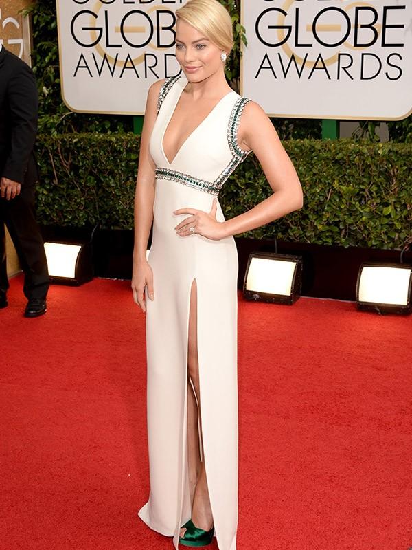 [Galeria vertical Moda] Golden Globe Awards - Margot Robbie (Foto: Getty Images/Agência)