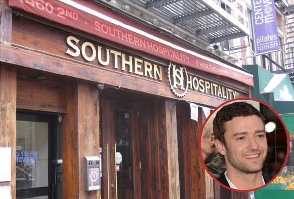 Justin Timerberlake é dono do Southern Hospitality em Nova York. Aberto desde 2007, serve inúmeras opções de churrasco (Foto: Getty Images / Divulgação)