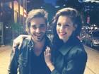 Sophia Abrahão e Fiuk curtem noite juntos