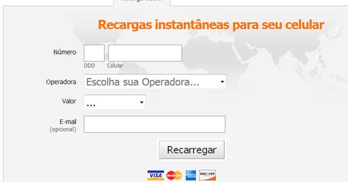 b04446080 G1 - Golpe usa recarga de celular na web para roubar cartão de crédito -  notícias em Tecnologia e Games