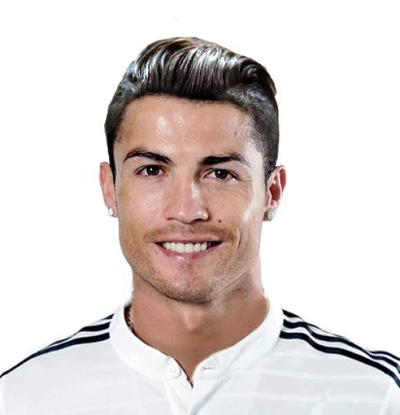 Cristiano Ronaldo envelhecido 35 anos