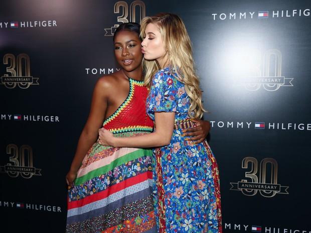 Cantora Justine Skye e Hailey Baldwin em evento em São Paulo (Foto: Manuela Scarpa/ Brazil News)