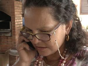 Mãe conseguiu falar com filha do Espírito Santo que estava no Nepal (Foto: Reprodução/ TV Gazeta)
