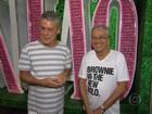Caetano e Chico visitam Mangueira, que homenageia Maria Bethânia