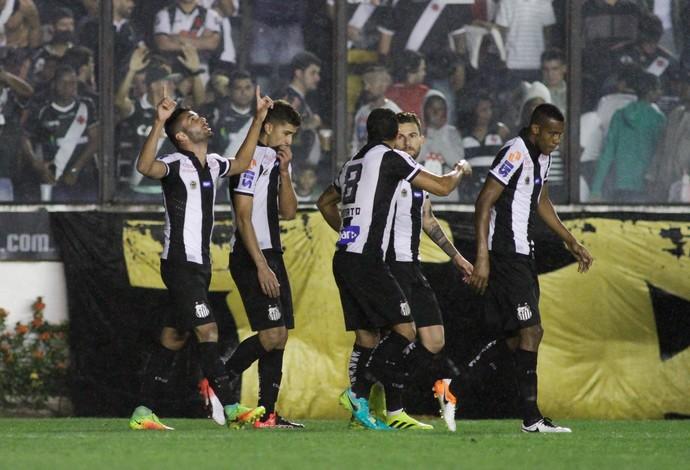 Copete gol Santos Vasco (Foto: Luciano Belford / Agência Estado)