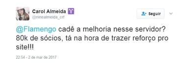 Sócio Torcedor Flamengo (Foto: Reprodução/Twitter)