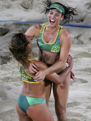 Agatha Barbara vôlei de praia (Foto: Reuters)