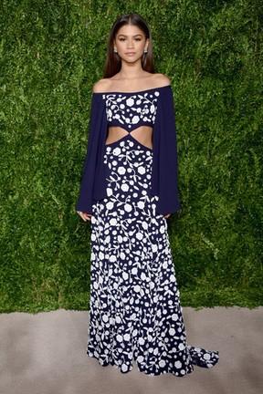 Zendaya em prêmio de moda em Nova York, nos Estados Unidos (Foto: Dimitrios Kambouris/ Getty Images/ AFP)