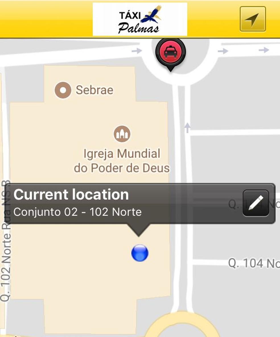 Aplicativo de taxis já está disponível em Palmas (Foto: Reprodução)