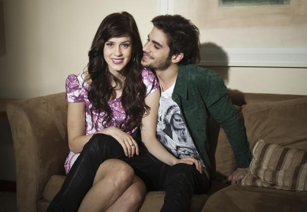 Sophia Abrahão e Fiuk, que estão juntos há cinco meses (Foto: Marcelo Côrrea/Ed. Globo)