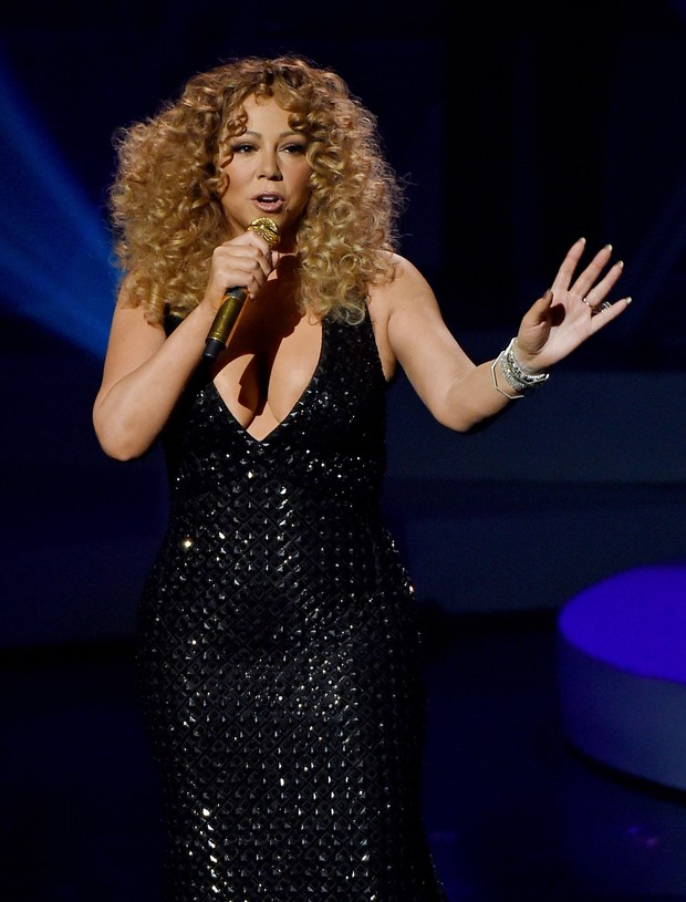 Mariah Carey se apresenta em Las Vegas, nos Estados Unidos (Foto: Ethan Miller/ Getty Images/ AFP)